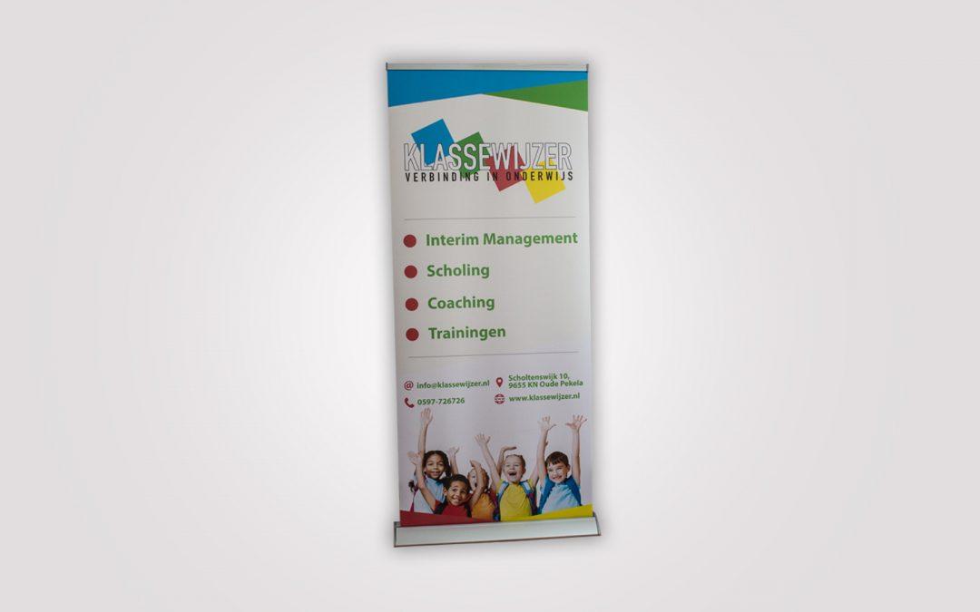 Rollup-banner – Klassewijzer bv